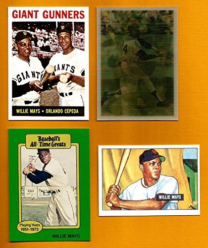 Willie Mays Baseball Card Lot 4 1951 Bowman Rookie Reprint 1989 Hygrade 1964 Reprint Wcepeda 1986 Sportflics