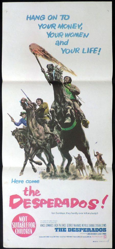 The Desperados Original Daybill Movie Poster Jack Palan