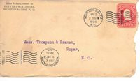 1906 Liipfert, Scales Tobacco Co. Winston Salem, NXC. Postal Cover