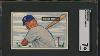 1951 Bowman MICKEY MANTLE Rookie New York Yankees SGC 7