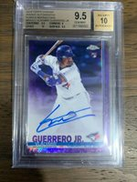 VLADIMIR GUERRERO JR. 2019 Topps Chrome Purple RC Auto /250 BGS 9.5 Gem Mint+
