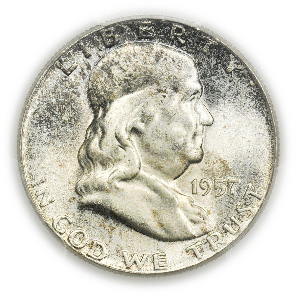1963 P Franklin Silver Half Dollar NGC MS64