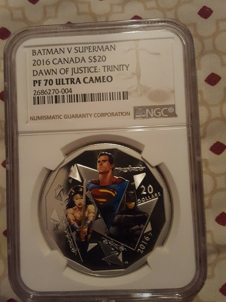 SUPERMAN 2016 BATMAN V SUPERMAN NGC PF70 FIRST RELEASES DAWN OF JUSTICE $10