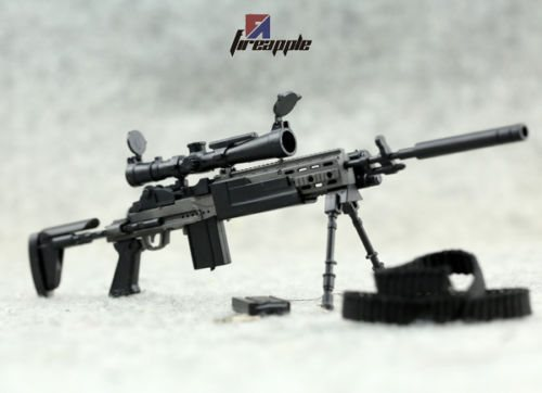 1:6 Scale 4D Weapon Model Assembly Black MK14 MODO Sniper Rifle Gun Model Toy