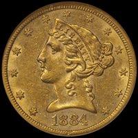 ON HOLD--$5.00 - 1884-CC NGC AU58