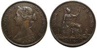 UK 1861 Victoria Halfpenny, Freeman 275 (5+G), 15 leaves, no LCW on reverse