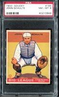 1933 Goudey #186 John Schulte PSA 8