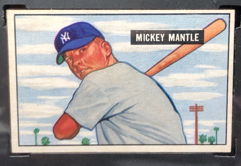 1951 Bowman Mickey Mantle Rookie 253 Sgc 7 Wow
