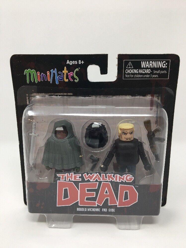 Walking Dead Minimates s4 Hooded Michonne /& Gabe figures Diamond 812051