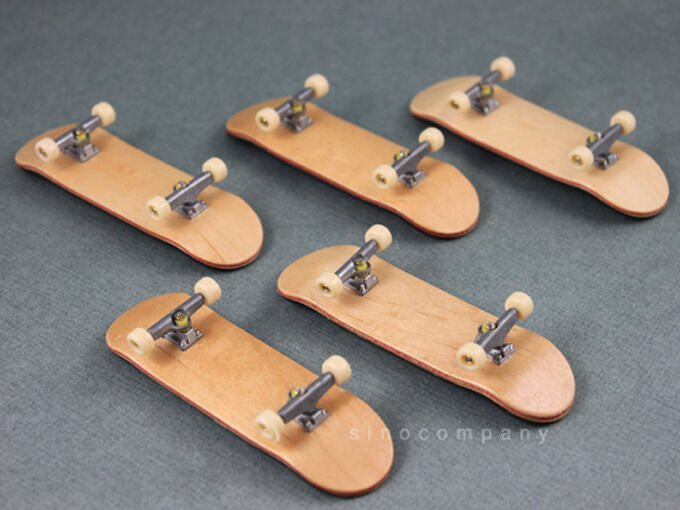 5x Canadian Maple Wooden Fingerboard Skateboards Foam Tape Deck Rare Child Gifts