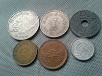 WORLD OLD COINS***** 6 OLD COINS COLLECTIBLES*****