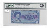 MPC Series 591  5 Dollars Fine   KEY type