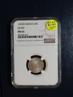 1920 M Mexico Twenty Centavos NGC MS62 SILVER 20C Coin PRICED TO SELL NOW!