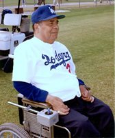 BROOKLYN DODGERS ROY CAMPANELLA AT SPRING TRAINING LATE IN LIFE