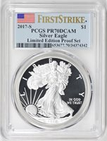 2017 S Silver Kennedy Limited Edition Proof Set PCGS PR 69 DCAM First Strike