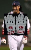 Ramirez Game Used Batting Gloves