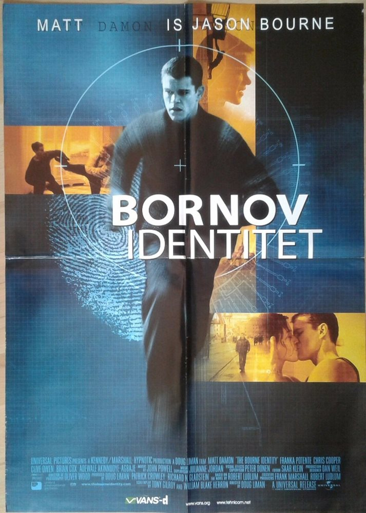 The Bourne Identity 2002 Original Serbian Movie Poster