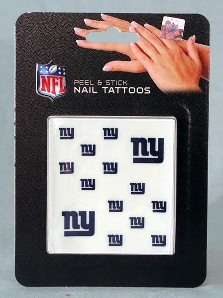 New York Ny Giants Nfl Peel Stick Facefingernail Tat