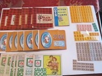 LARGE LOT OF VINTAGE TRADING STAMPS: GREEN STAMPS, BLUE CHIP STAMPS & MORE TUB Z