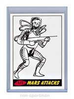 MARS ATTACKS TOPPS HERITAGE SKETCH BY ??