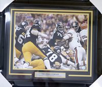 788a57d5e03 Pittsburgh Steelers Steel Curtain Autographed Framed 16x20 Photo With 4  Signatures Including Greene, Greenwood,