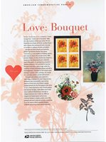 #731 37c Love: Bouquet #3898 USPS Commemorative Stamp Panel