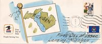 #1658 Michigan State Flag Dual Unknown FDC (04919761658001)