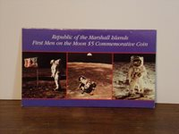 First Men on the Moon $5 Commemorative Coin - Republic of the Marshall Islands