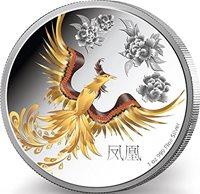 2015 NU feng shui FENG SHUI PHOENIX Supernatural Creature Silver 1 Oz Coin 2$ Niue 2015 Dollar Perfect Uncirculated