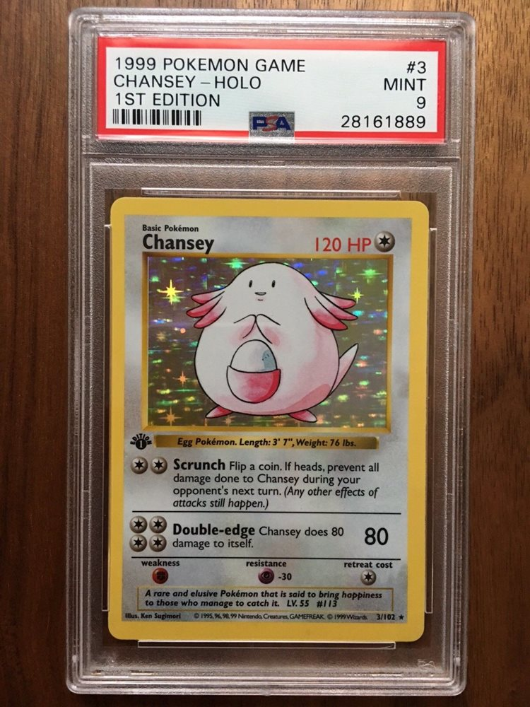 RARE MINT BASE SET SHADOWLESS CHANSEY HOLO PSA POKEMON CARD COLLECTION 3//102
