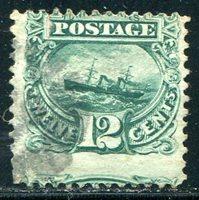 Green Postmark (U.S. General ; Scott#: 117)