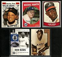 Mickey Mantle 1959 Willie Mays Hank Aaron Roberto Clemente And Jackie Robinson Reprint Baseball Cards 5 Different