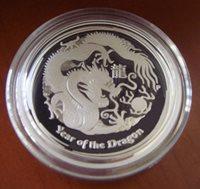 2012P Dragon Proof Half Dollar Australia Perth Mint 50c 1/2oz Silver Lunar II 2