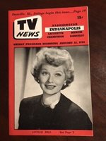 """1954, Lucille Ball (I Love Lucy), """"TV News"""" (No Label) - Rare"""