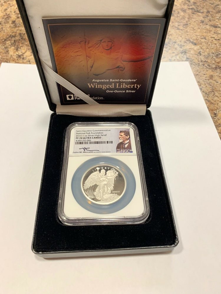 Liberty Coin Act Label 2016 W 1oz Silver Eagle Proof NGC PF69 Ultra Cameo
