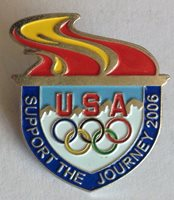Support The Journey 2006 USA Olympic Torch Pin Badge Rare Vintage (F2)