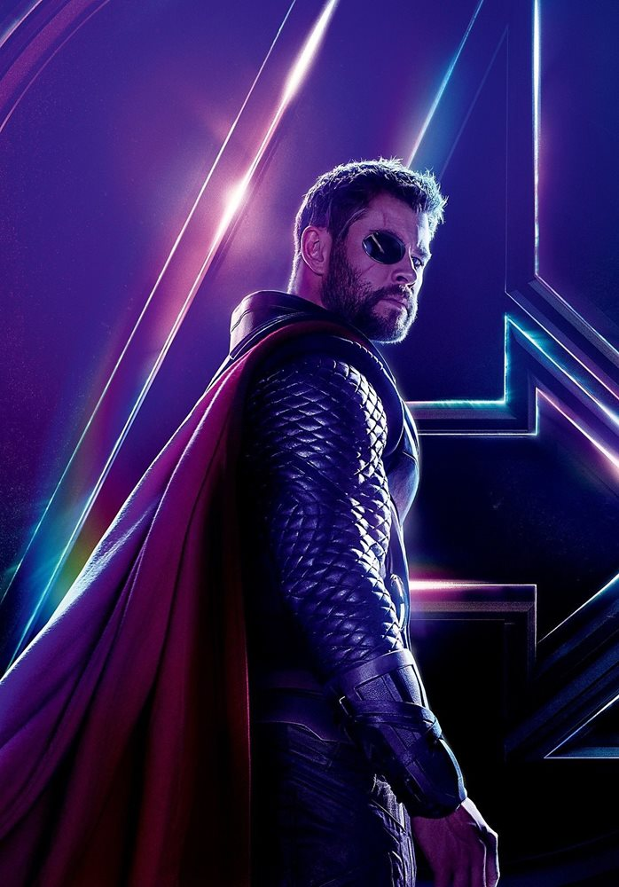Avengers Infinity War Textless Character Poster Thor Ch