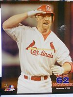 St 8 x 10 Color Glossy Photo Louis Cardinals 70 Home Runs Mark McGwire