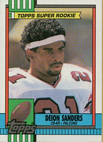 Deion Sanders Rookie Card 1990 Topps Super Rookie Football Card 469 Atlanta Falcons Free Shipping