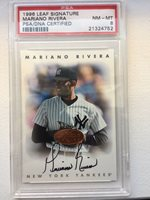 1996 Leaf Signature Mariano Rivera AUTO SIGNED Autograph Graded Card PSA 8