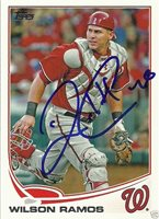 678a711b6ad Wilson Ramos Signed Auto 2013 Topps Washington Nationals Card - COA - MLB