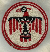 Wonderful, Huge WWII USAAF Thunderbird Field Flight Instructor Jacket Patch in Chenille
