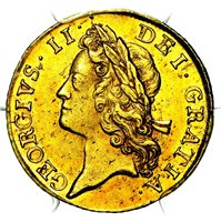 1733 King George II Great Britain Gold Guinea Coin PCGS MS63