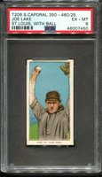 1909-11 T206 Joe Lake With Ball PSA 6 +++ Looks Nicer St. Louis Amer.