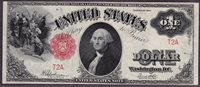 Fr.-39 1917 $1 Legal Tender Uncirculated Ser. # T2A PMG-63EPQ