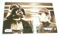 Star Wars Rare Leslie Schofield Chief Bast A New Hope ANH Autograph Signed Card