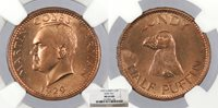 LUNDY Martin Coles Harman 1929 1/2 Puffin NGC MS-64 RB -- #WC73312