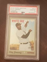 2019 Topps Heritage Eloy Jimenez Chrome /999 RC PSA 10 Hot Young White Sox Star!