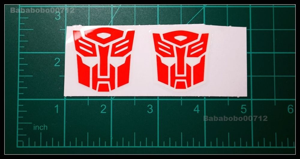 New Autobotos Symbol White border /& hollow large stickers for toy transformers