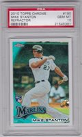 2010 Topps Chrome Refractor Giancarlo Mike Stanton Rookie Rc #190 PSA 10